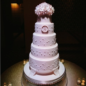 Five-Tier Lace Cake