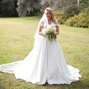 Vintage-Inspired Lace Bridal Gown