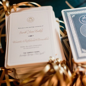Playing Card Inspired Ceremony Programs