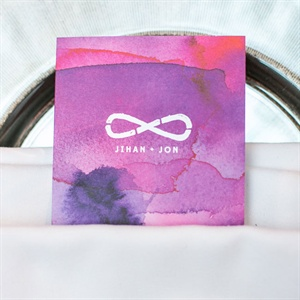 Purple Watercolor Place Cards