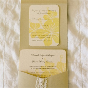Tropical Floral Invitations
