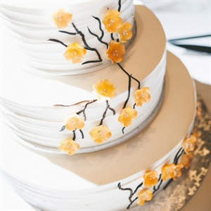 Yellow Cherry Blossom Cake
