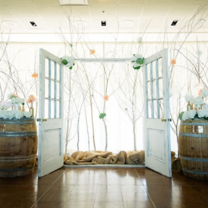 Whimsical Vintage Ceremony Backdrop