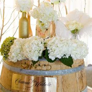Wine Barrel Ceremony Decor