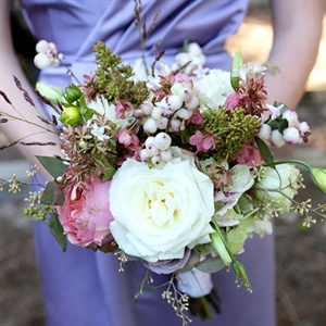 Peony and Berry Bridesmaid Bouquet