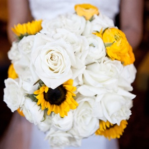 Yellow and White Sunflower Bouquet