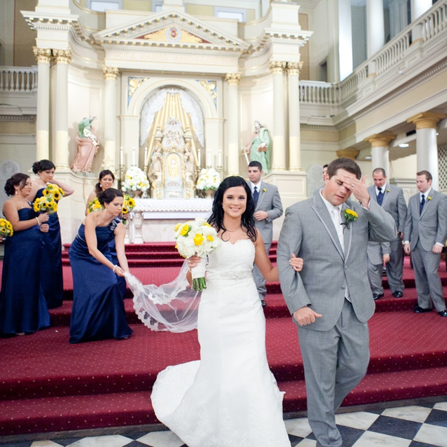 The couple exchanged vows at St. Louis Cathedral in New Orleans, La.
