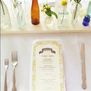 Floral Pattern Menu Cards