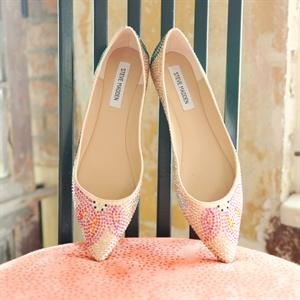 Pink Paisley Bridal Flats