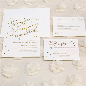 Glam Gold Invitations