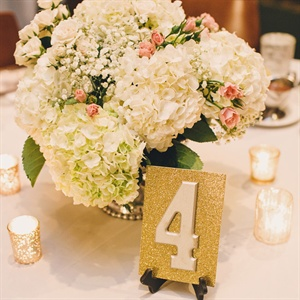 Gold DIY Table Numbers