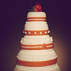 Five-Tiered Fondant Cake