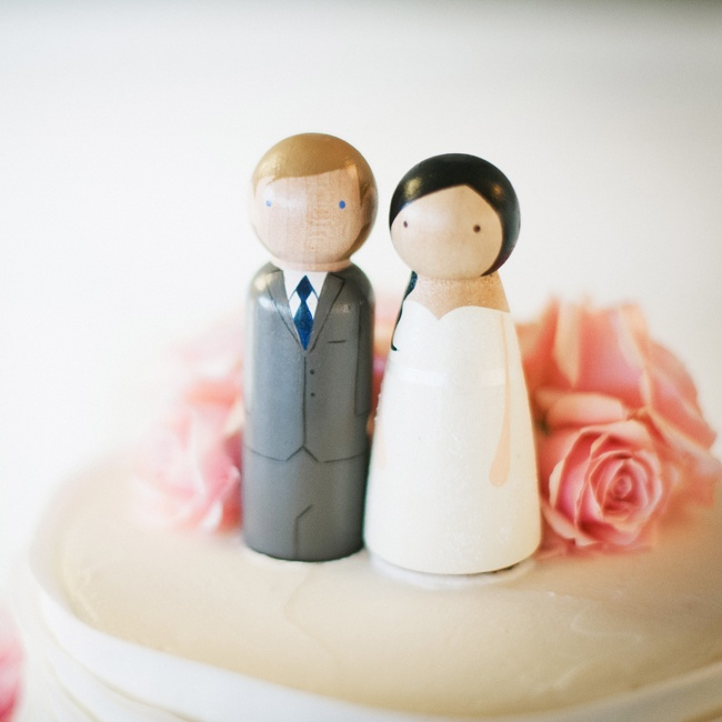 """We had super-cute cake toppers that I purchased from Etsy that were made to look like us,"" Tina says."
