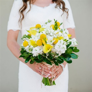 Bright Yellow and White Bridal Bouquet