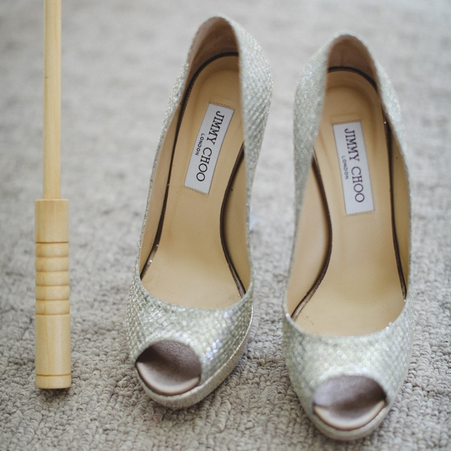 Paula wore silver Jimmy Choo heels that complemented her beautiful mermaid gown. It was important for the bride to choose comfortable shoes so that she could dance all night long.