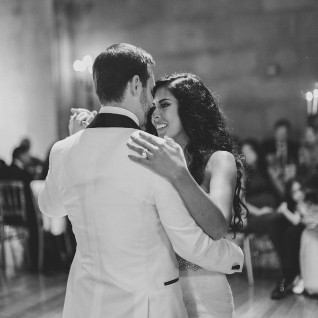 "Paula and David's first dance was to the song, ""Superman"" by Robin Thicke. For the first two hours of the reception, the couple had a live old-school ""crooner,"" Brian Newman. Later in the reception, there was a DJ who played more modern dance music."