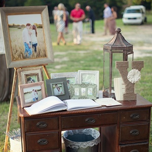 Rustic Guestbook Display