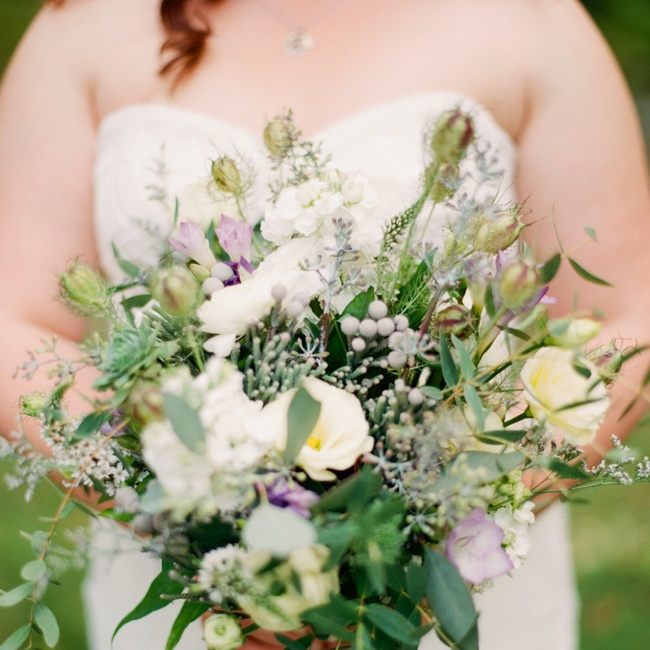 """When I spoke to the florist, I had one request: eucalyptus. It was special because it reminded me of Santa Barbara, and it looks gorgeous in bouquets. She honored my request, and the bouquets were lovely!"""