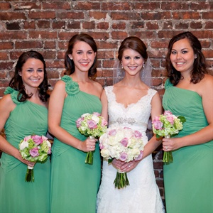Cheery Green Bridesmaid Attire