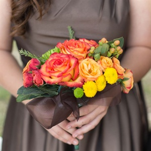 Bright Orange Bridesmaid Bouquet
