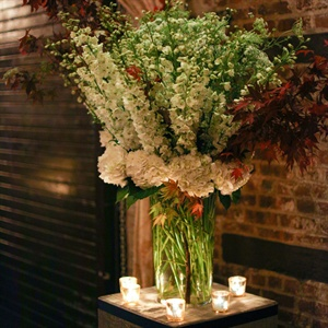 Large White and Red Floral Arrangement