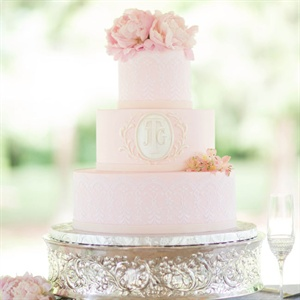 Pink Three-Tiered Cake