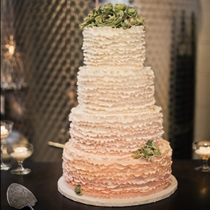 Beautiful Ombre Wedding Cake