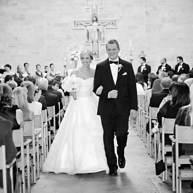 Allison and Brandon celebrated their union with a traditional church ceremony at the Bishop Chartrand Memorial Chapel.