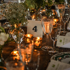 Table Numbers With Green Detailing