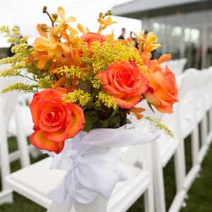 Orange Rose Ceremony Decor
