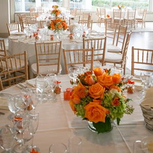 Orange Rose Centerpieces