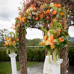 Orange Floral Decor