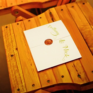Wax-Sealed Ceremony Programs