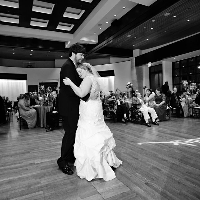 Brittany and Nick's first dance as husband and wife was set to music spun by DJ Jim Cerone.