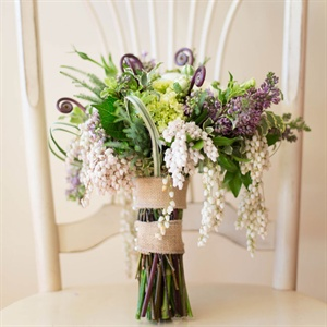Textured Purple Bridal Bouquet