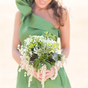 Green Leafy Bridesmaid Bouquet