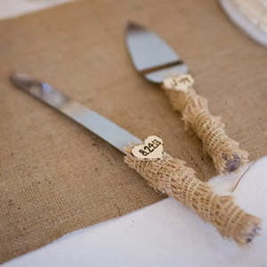 Burlap Cake Knife Set