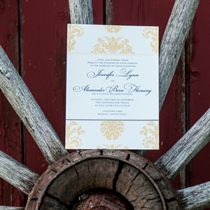 Yellow Accent Invitations