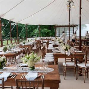 Tented Outdoor Reception Decor