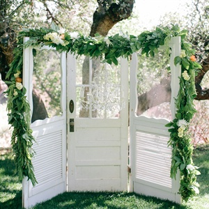 Shabby-Chic Wedding Arch