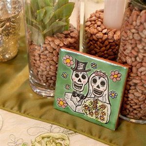 Bride and Groom Sugar Skull Tiles