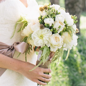Rustic White Bridal Bouquet