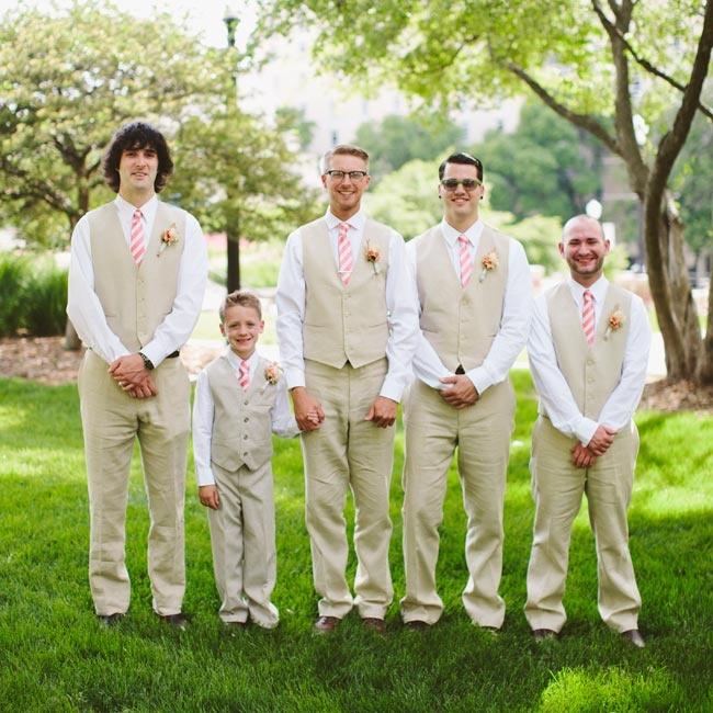 Vintage Wedding Dresses Omaha Ne: Clayton And His Groomsmen Wore Matching Khaki Pants And