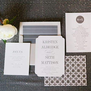 Silver Accent Invitation Set