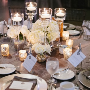 White Rose and Hydrangea Centerpieces
