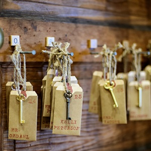 Antique Key Escort Cards