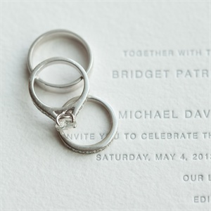 The Wedding Rings and Invite