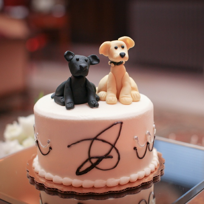 """We loved the ""puppy cake"" that was made for us. It had a yellow and black lab on it and it reminded us of Dudley and Riley, our two dogs."" says Callie."