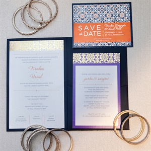 Gold Accent Invitation Set