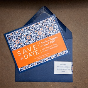 Colorful Patterned Save the Dates